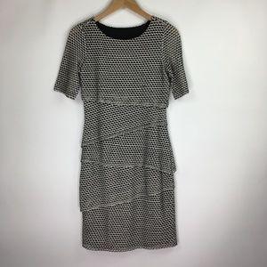 Joseph Ribkoff Black White Layer Dress Sz 8